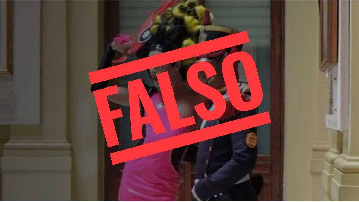 Viviana Canosa compartió una foto fake criticando el distanciamiento social en la Casa Rosada y la destrozaron en las redes