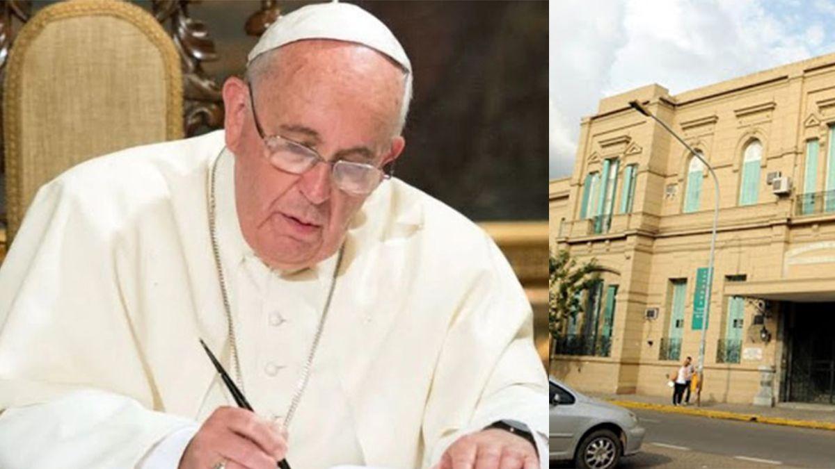 El Papa Francisco envió una nota al Cullen escrita de puño y letra.