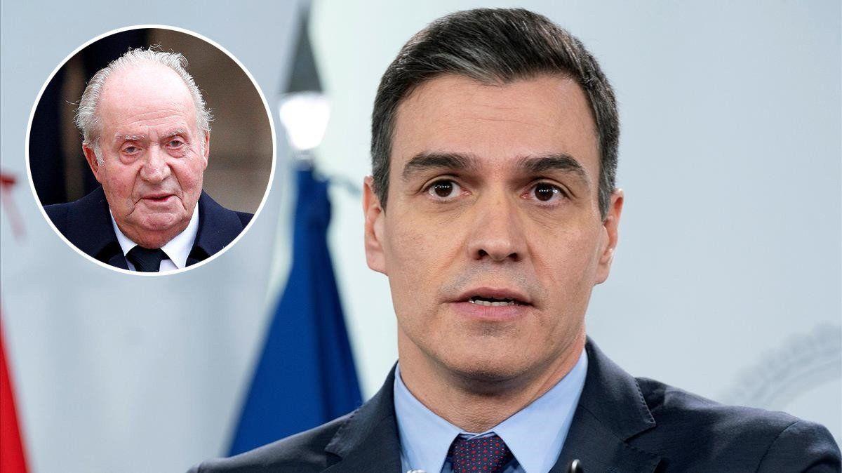 Pedro Sánchez asegura que desconoce el paradero de Juan Carlos I.