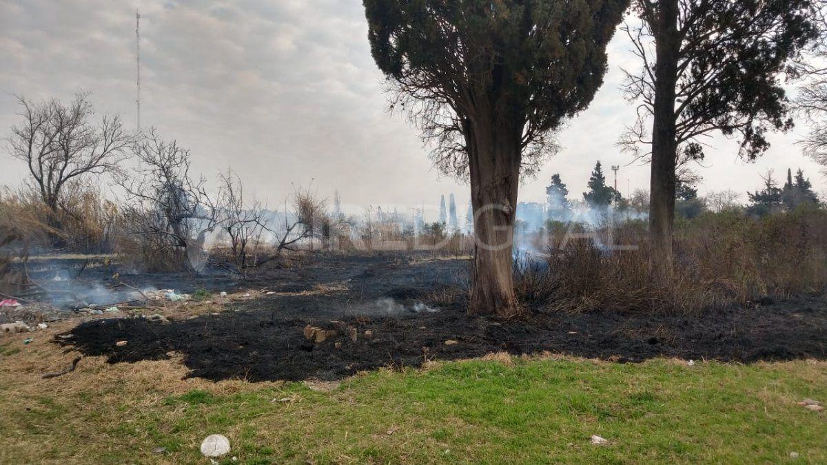 Un campo se incendió en Santo Tomé.