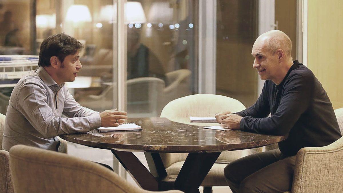 El gobernador bonaerense Axel Kicillof y el jefe de Gobierno porteño