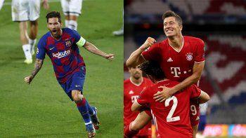 Messi vs. Lewandowski: Barcelona y Bayern Munich juegan por un lugar en semis de la Champions League