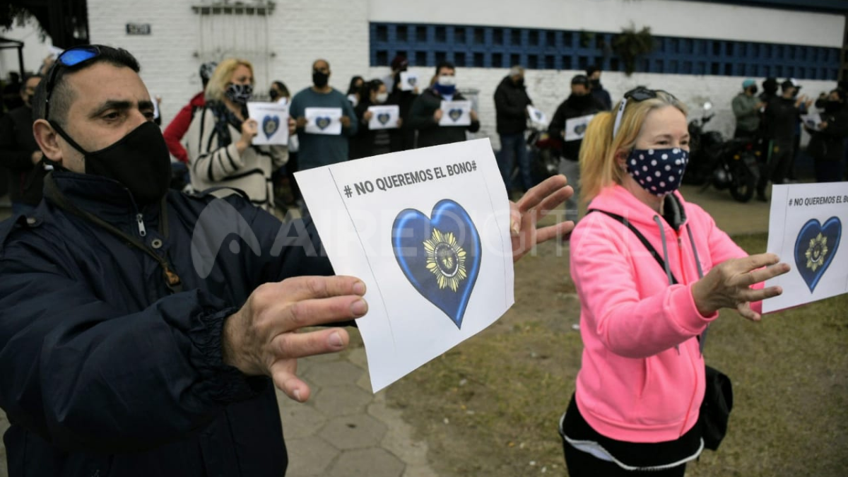 La marcha coincide con los momentos de tensión en el seno de la policía de provincia de Buenos Aires