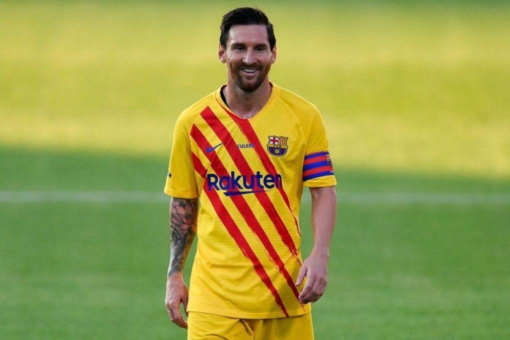 Lionel Messi acumuló sus primeros minutos de la temporada con la camiseta del Barcelona.