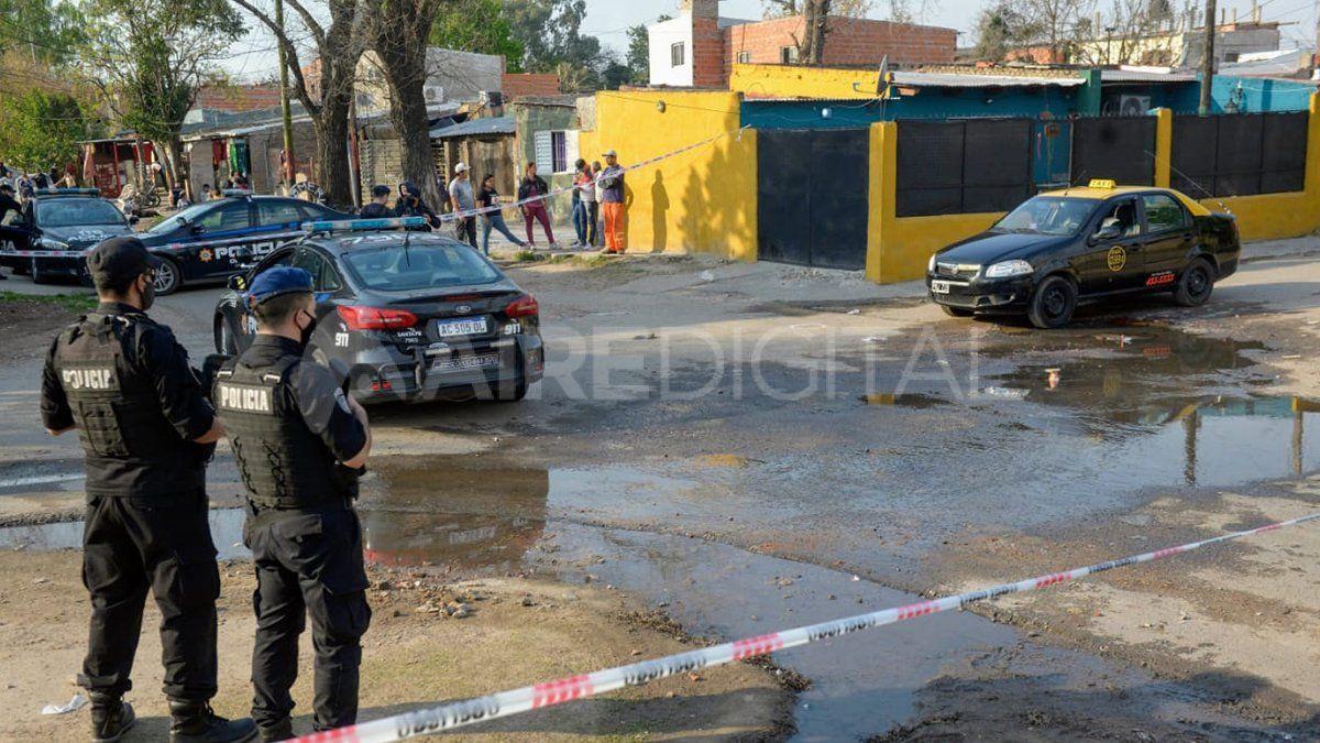 La escena del crimen en Rosario.
