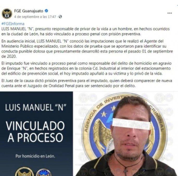 """El hombre fue identificado como Luis Manuel """"N"""" y el abusador como David Enrique."""