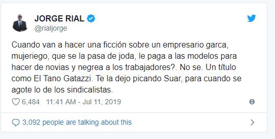 """La bronca de Jorge Rial por el estreno de """"El Tigre Verón"""" ¿es un guiño a Moyano?"""