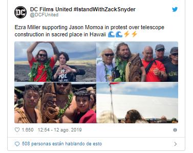 """""""Justice League"""" se une para protestar contra la destrucción de la fauna en Hawái"""
