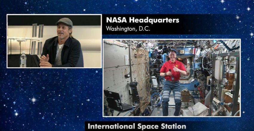 El actor tuvo una simpática y productiva charla con el astronauta de la EEI, que respondió las preguntas más curiosas.