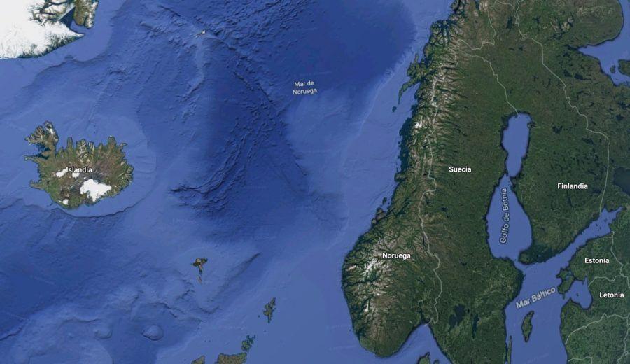 La región de países en las que se pueden ver las auroras boreales.