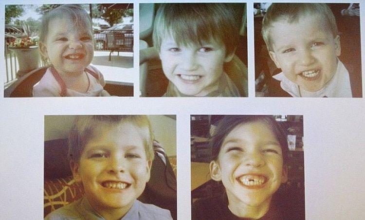 Sus cinco hijos que asesinó, la menor tenía un año, la mayor ocho Foto: MCT