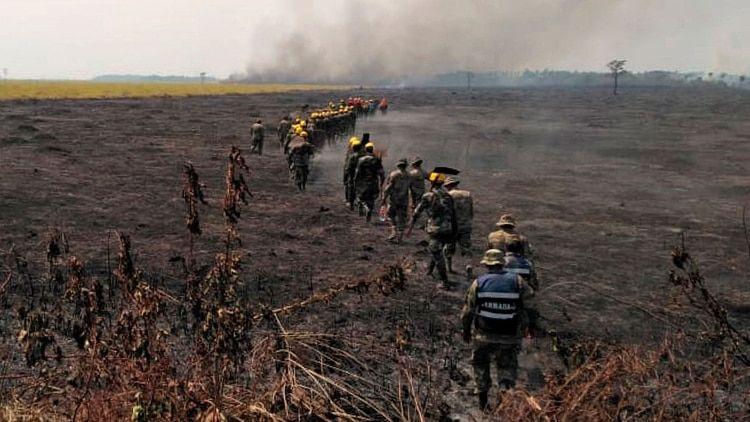 Las llamas devoran cientos de miles de hectáreas en Bolivia