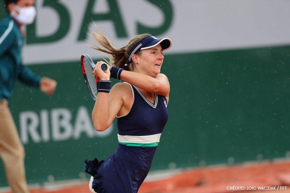 Nadia Podoroska perdió en la ronda inicial del torneo de Abu Dhabi
