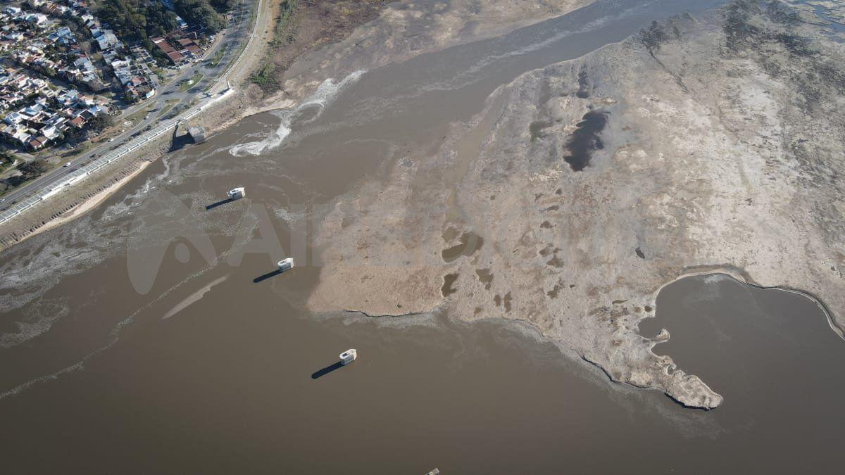 La bajante histórica del río Paraná impactó directamente en el nivel de la laguna Setúbal.
