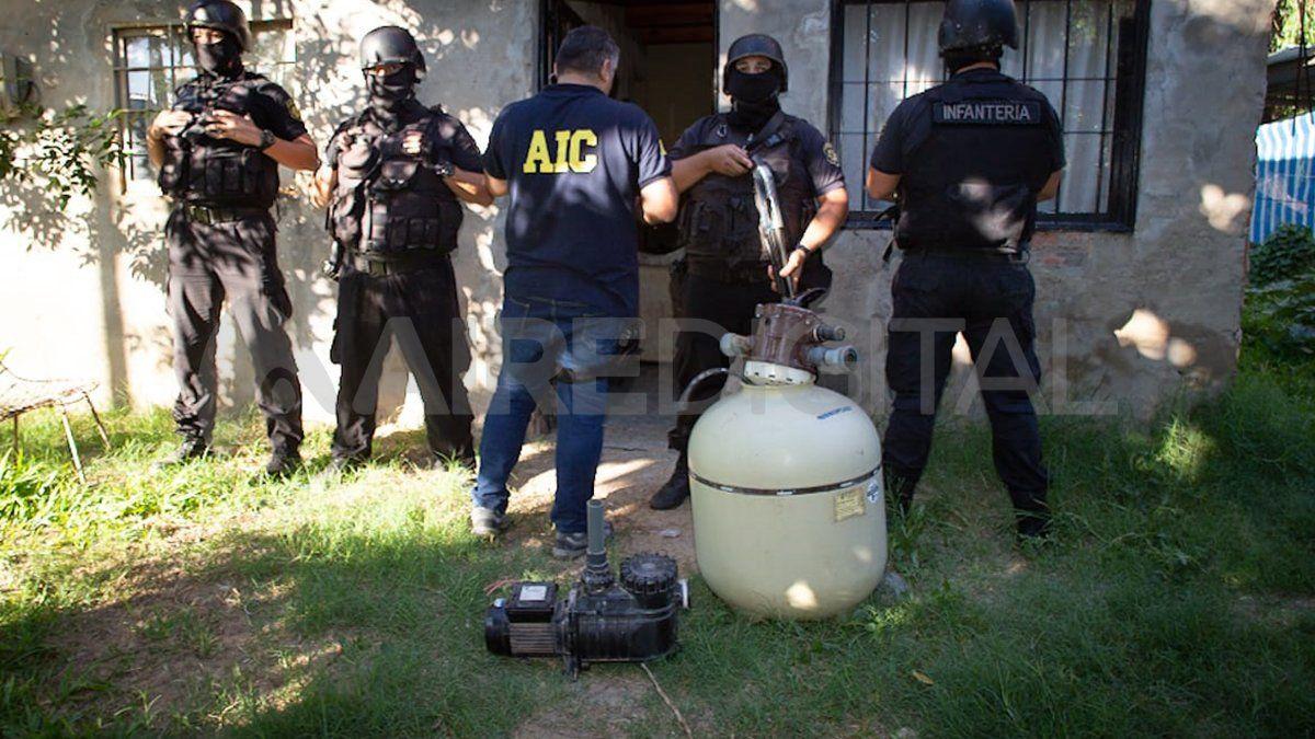 Secuestro. En un domicilio los investigadores encontraron elementos que presuntamente sería robados.