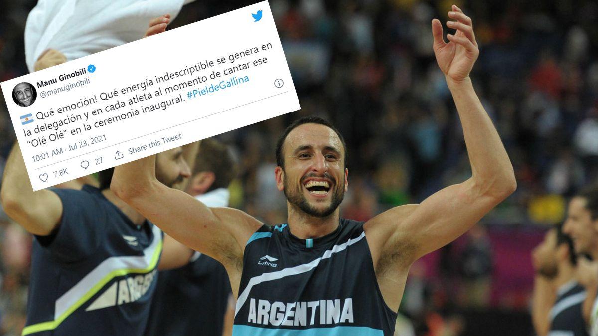 Manu Ginóbili manifestó su emoción por el inicio de los Juegos Olímpicos de Tokio 2020.