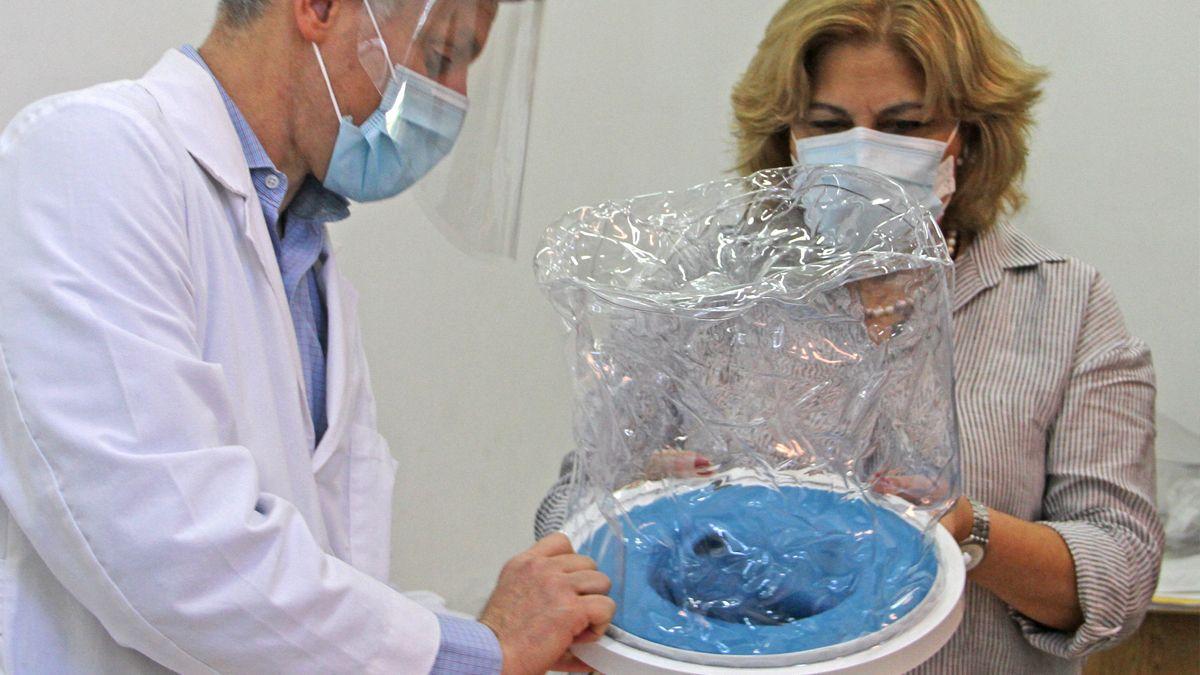Salud entregó unos 80 cascos Helmet en efectores de las localidades de Vera