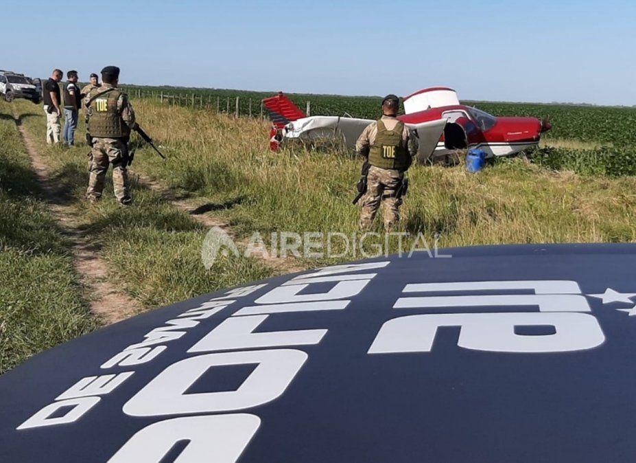 La aeronave fue encontrada en horas del mediodía.