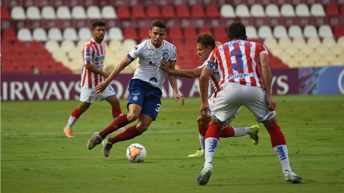 Unión empató sin goles con Bahía y quedó eliminado de la Copa Sudamericana tras la derrota en el partido de ida.