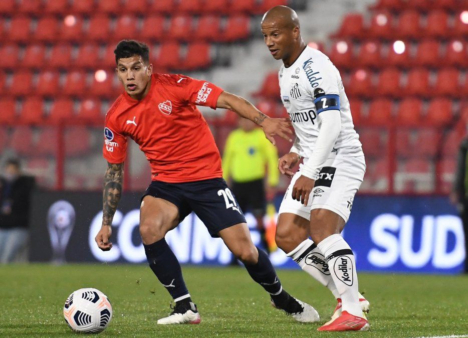 Copa Sudamericana: Independiente sucumbió frente a Santos y quedó eliminado