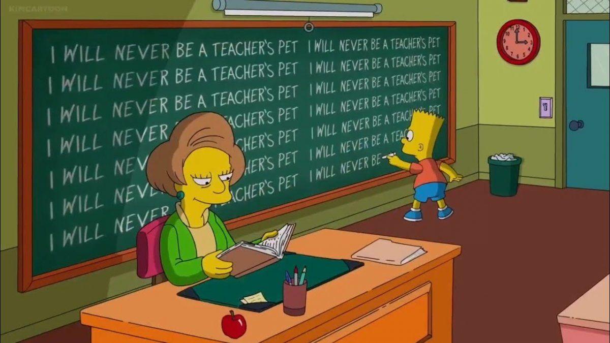 Los Simpson: así fue el adiós definitivo a la maestra Krabappel