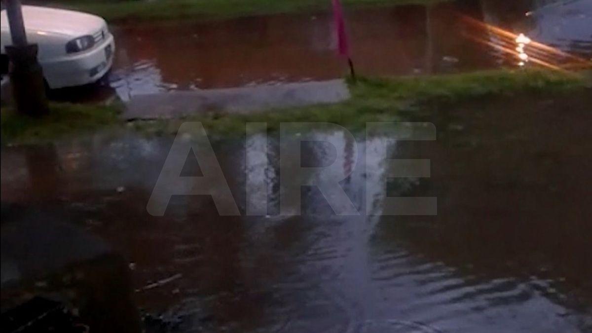 La intensidad de la lluvia fue de 241.2 milímetros por hora.