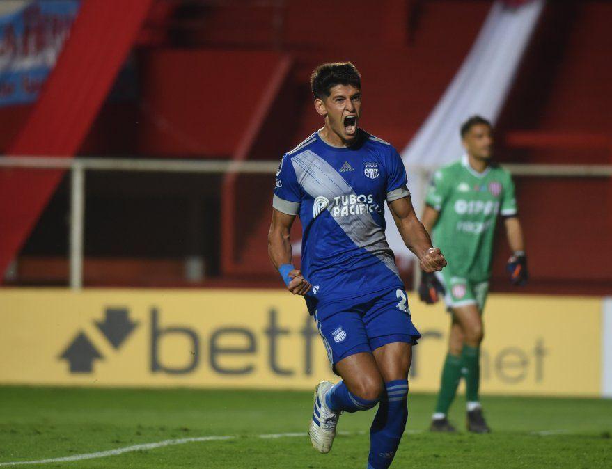 Facundo Barceló fue el autor del gol de Emelec en el triunfo 1-0 sobre Unión por la Copa Sudamericana.visibility