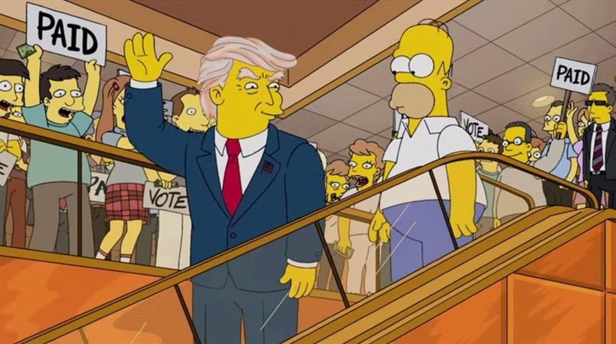 Los Simpson le dedican La casita del horror a Donald Trump