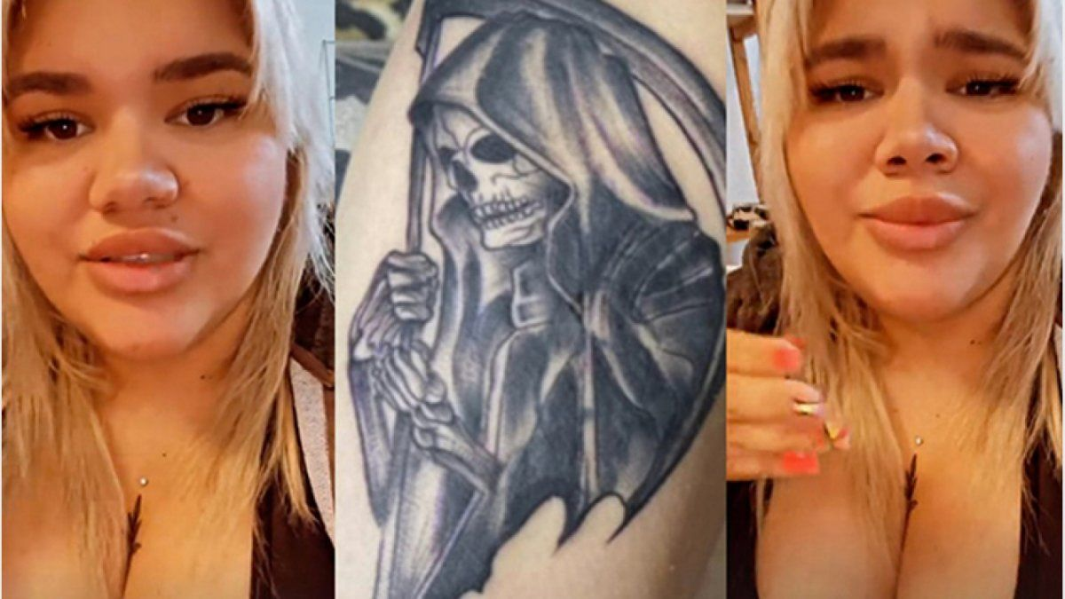 More Rial sorprendió a todos mostrando en las redes sociales su último tatuaje con una imagen de San La Muerte.