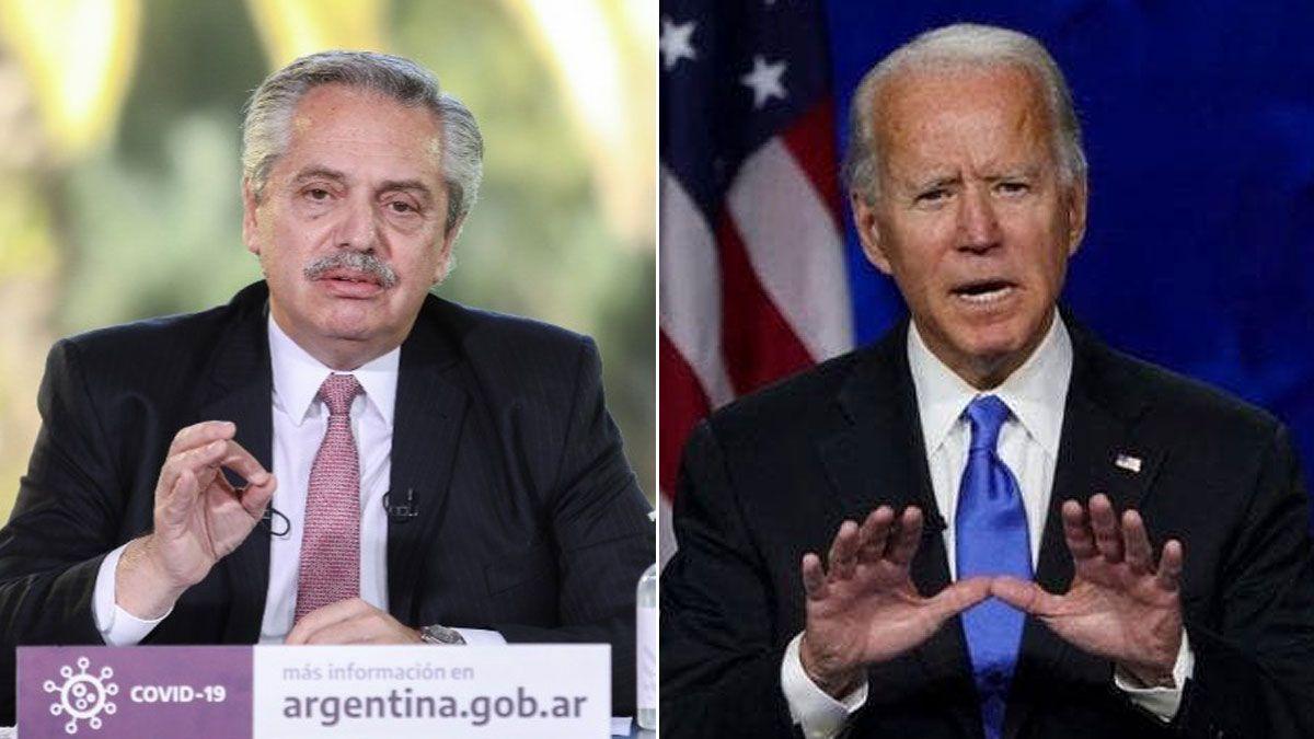 Alberto Fernández y Joe Biden dialogaron sobre la importancia de la acción climática en sus respectivas agendas.