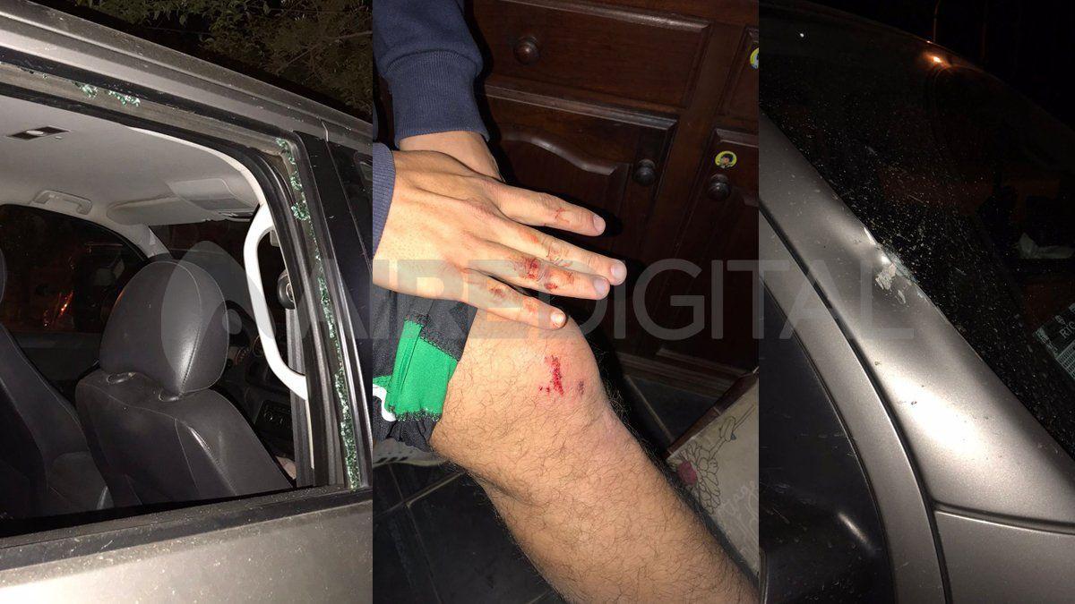 La emboscada a jugadores de Don Salvador en Rincón terminó con personas heridas y varios vehículos dañados.