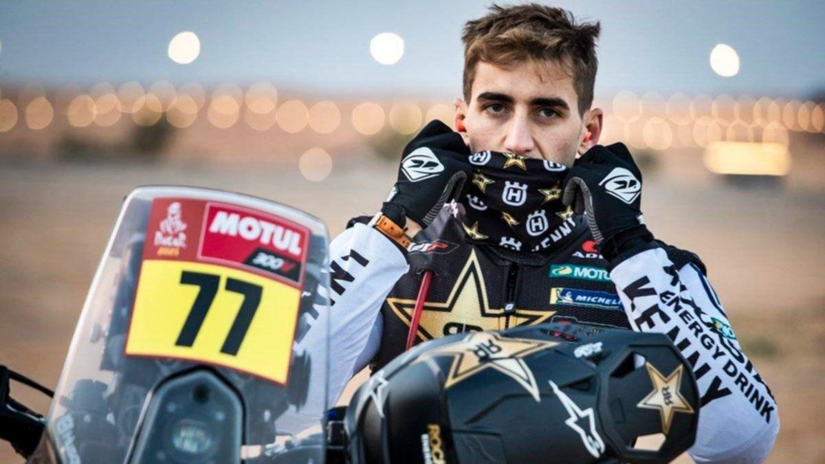 Luciano Benavides abandonó el Rally Dakar por una caída y posterior lesión en el hombro.