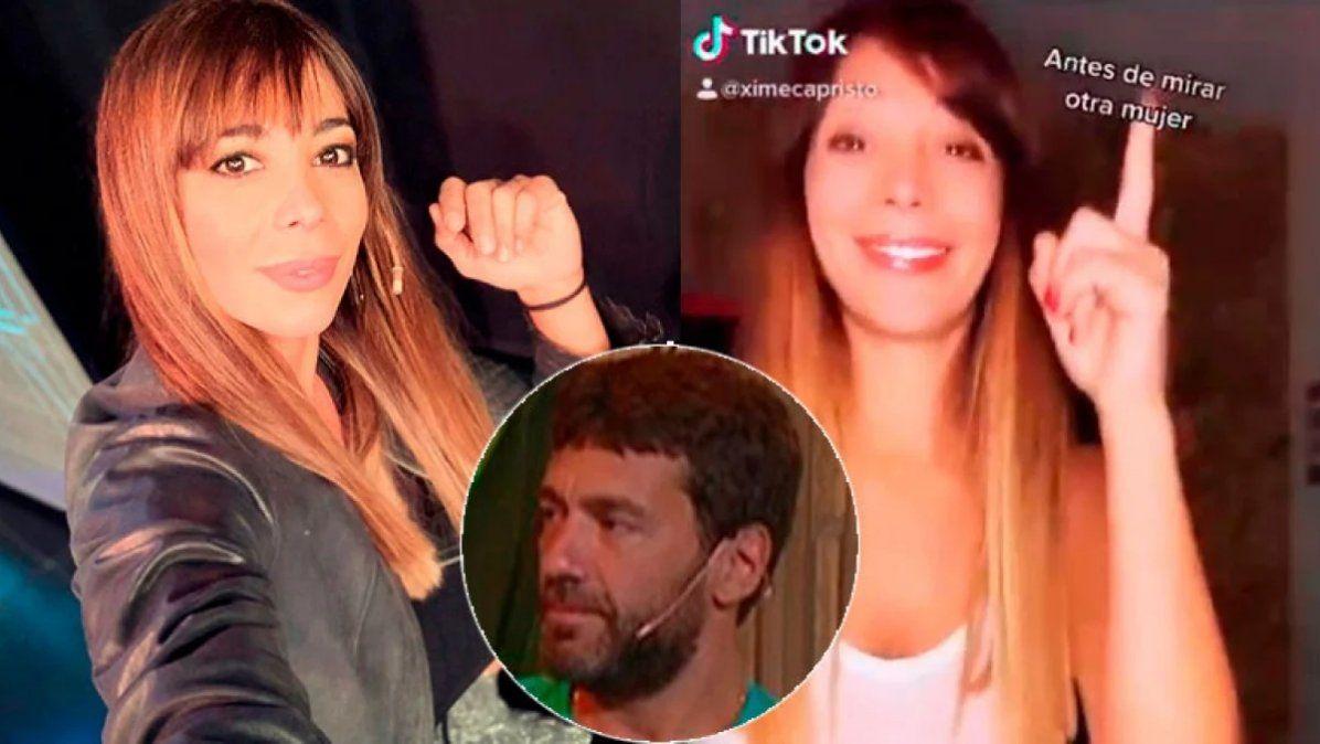 El sugerente Tik Tok de Ximena Capristo después de filtrar los mensajes de Gustavo Conti