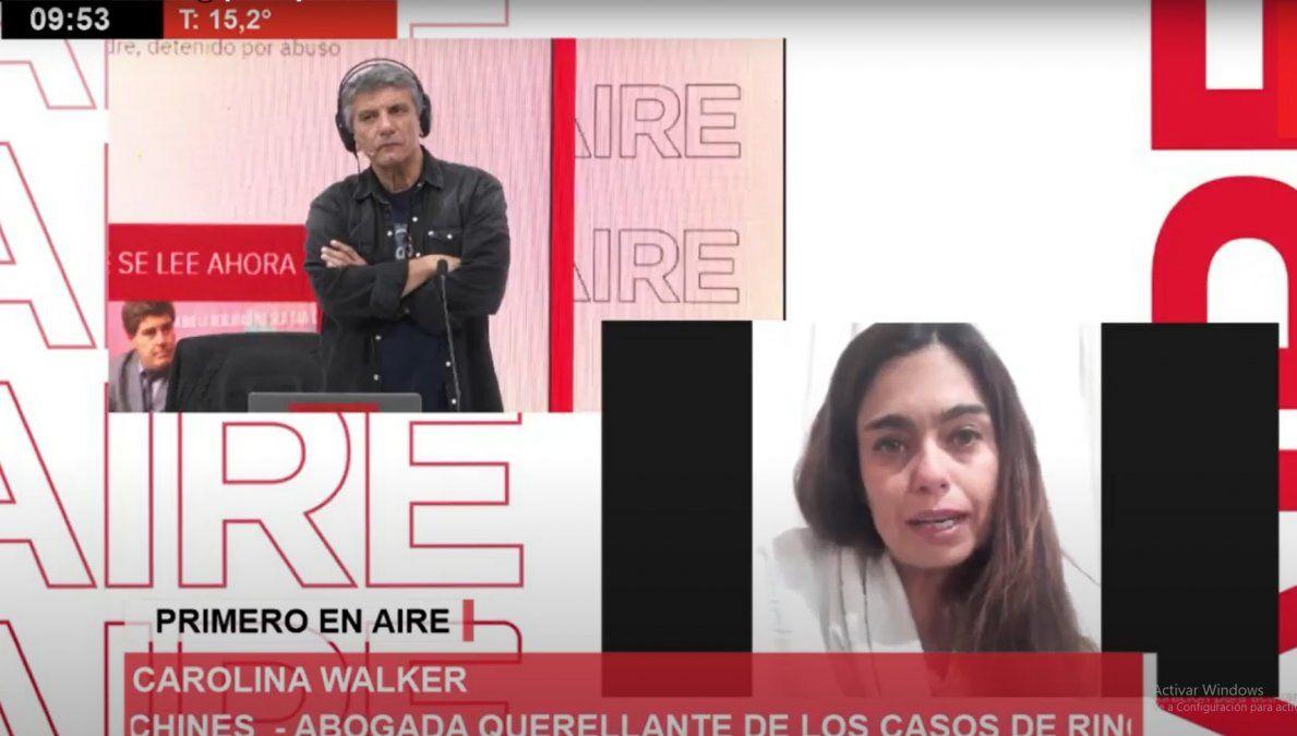 La abogada Carolina Walker representa a la menor en la causa penal.