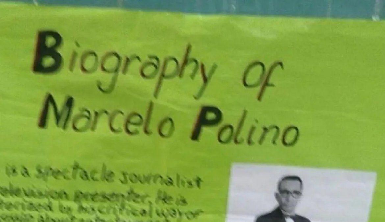 Insólito: entró a votar en las Paso 2021 y se encontró con una extraña biografía de Marcelo Polino en el aula