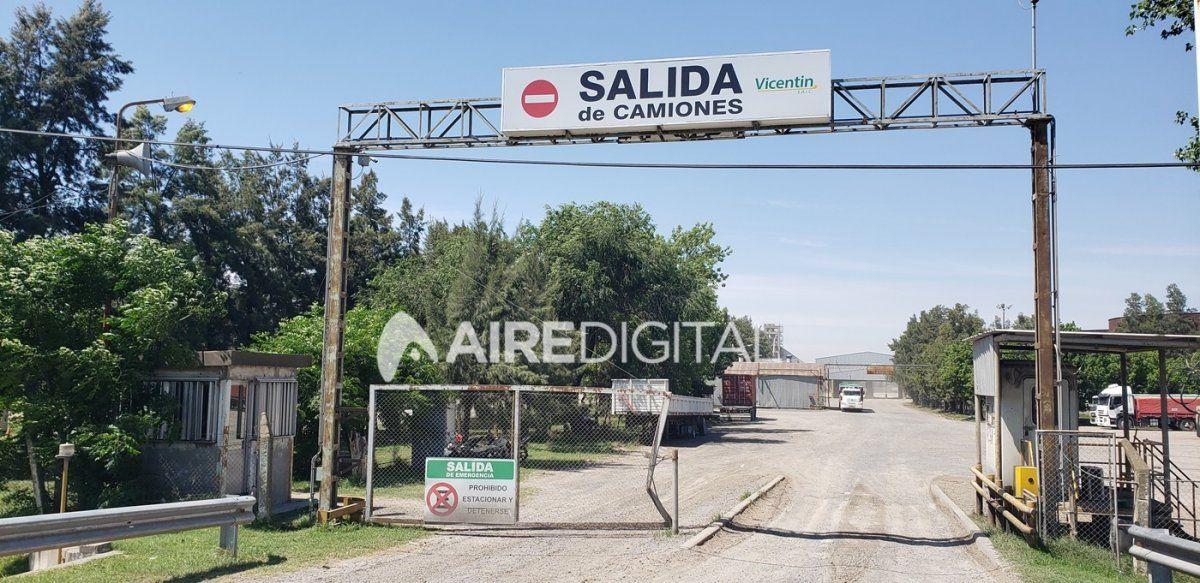 La planta de Vicentín en el Gran Rosario está casi paralizada desde principios de diciembre.