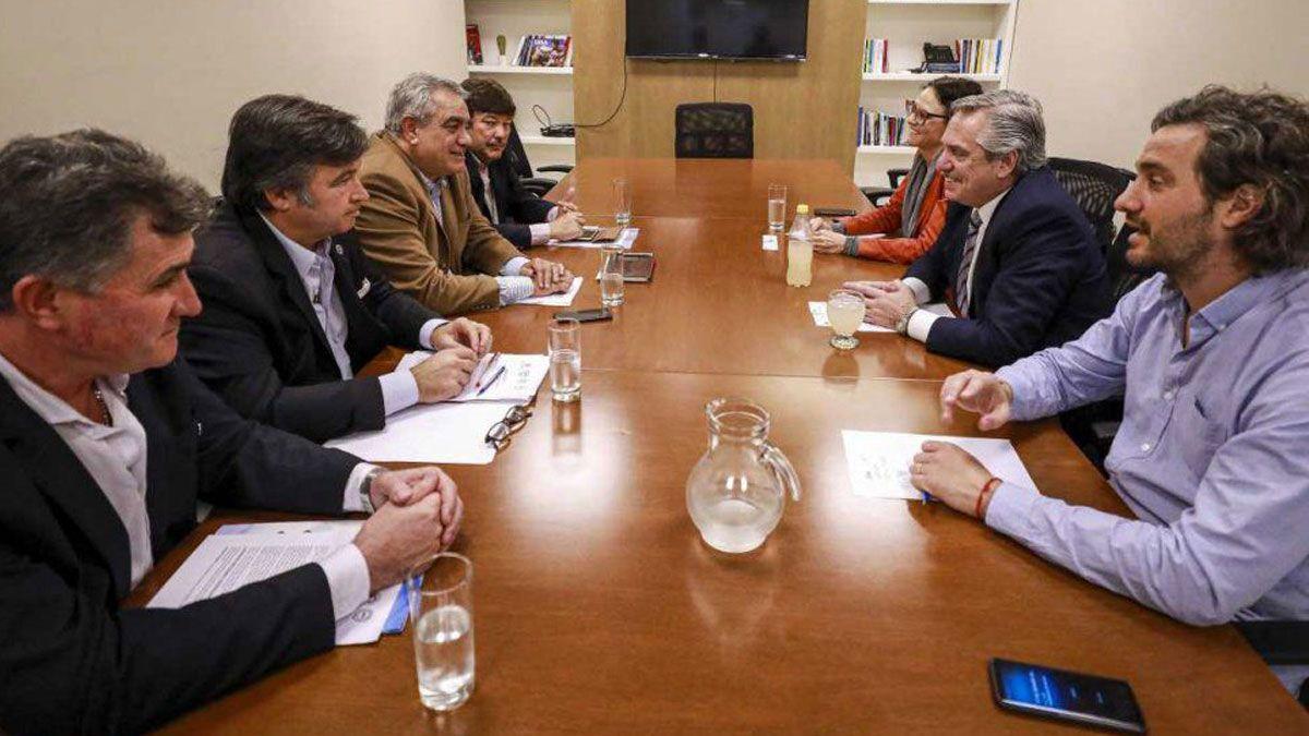 La reunión que mantuvo Fernández con la Mesa de Enlace tras ganar las PASO de 2019.