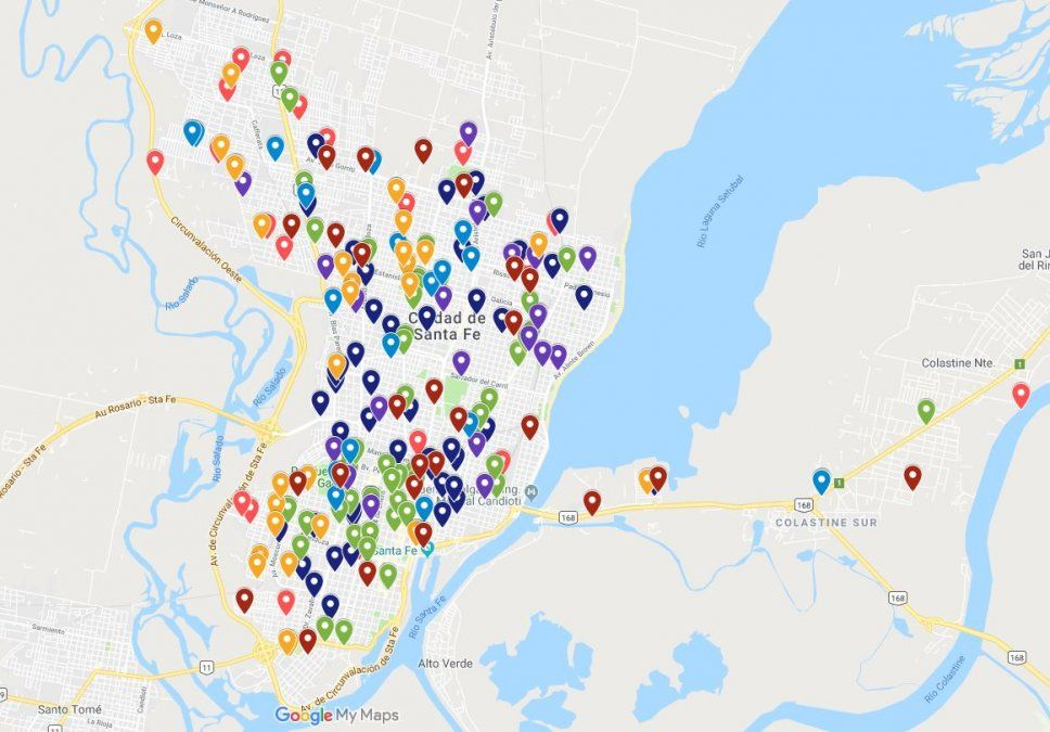 Homicidios, robos y enfrentamientos: el mapa que muestra 100 días de inseguridad en Santa Fe