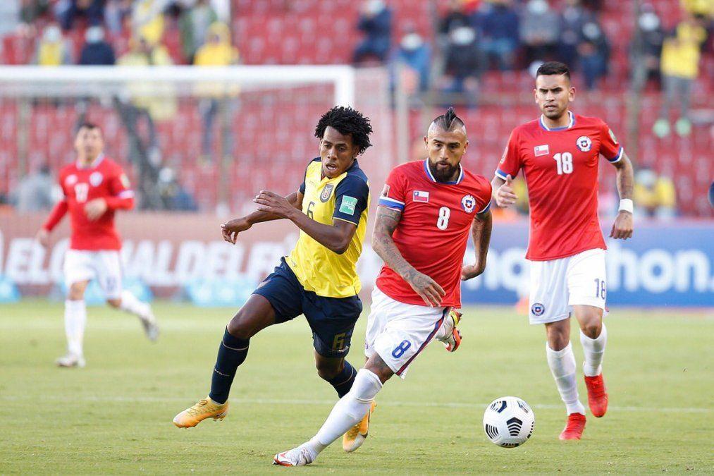 Eliminatorias Sudamericanas Qatar 2022: Ecuador igualó con Chile en Quito y sigue tercero