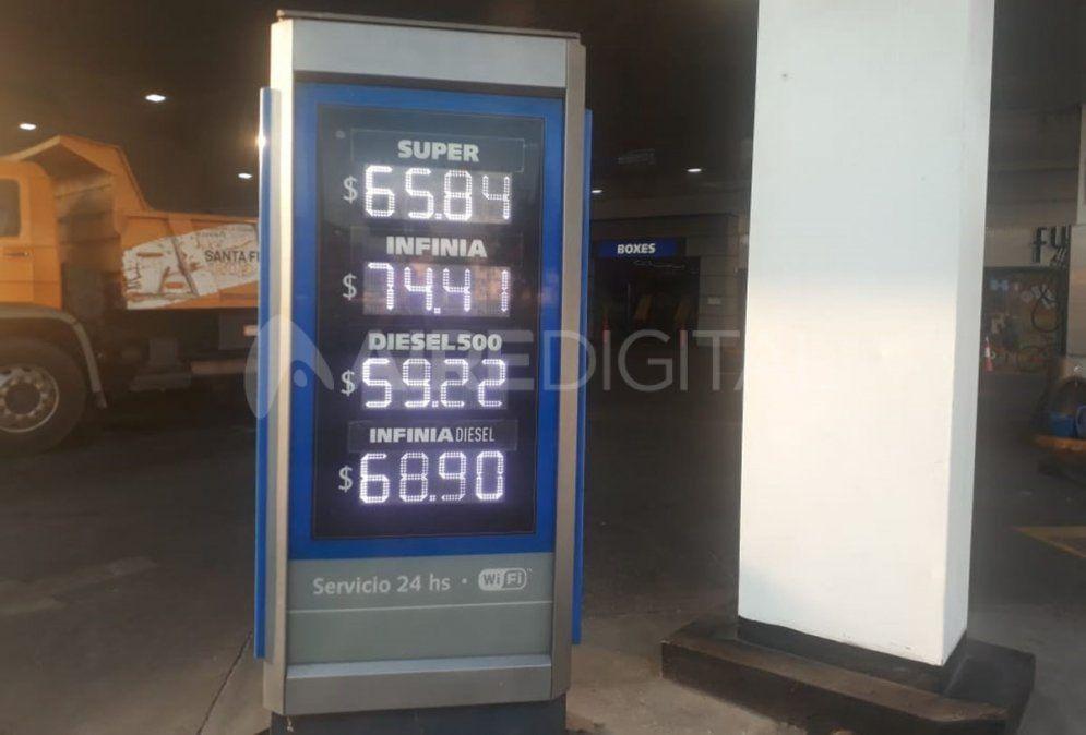 YPF aumenta el precio de sus combustibles un 3,5% en promedio