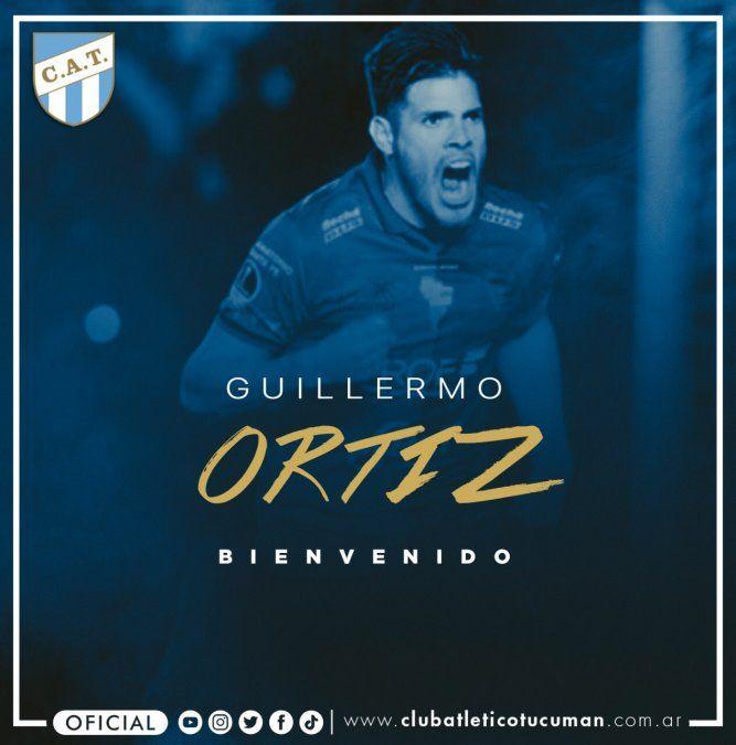 Es oficial: Guillermo Ortíz fue presentado en Atlético Tucumán
