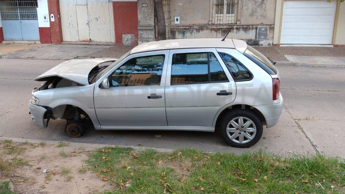 Barrio Roma: robaron la rueda de un auto