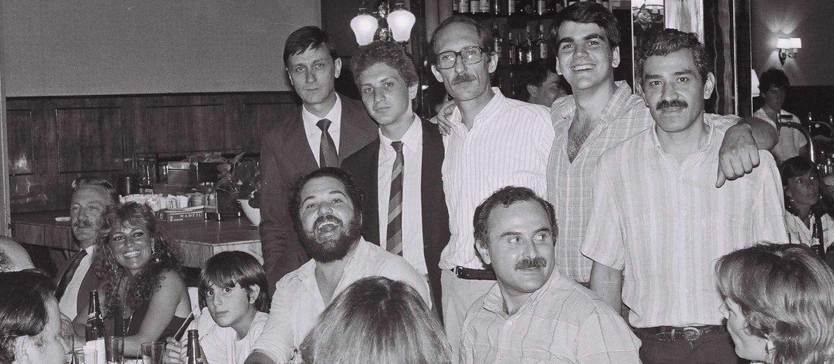 Lifschitz en una reunión de militantes del Socialismo junto a otros referentes como Hermes Binner y Estevez Boero.