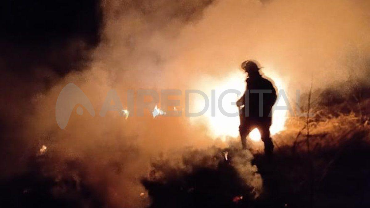 Incendio en Colastiné Sur.