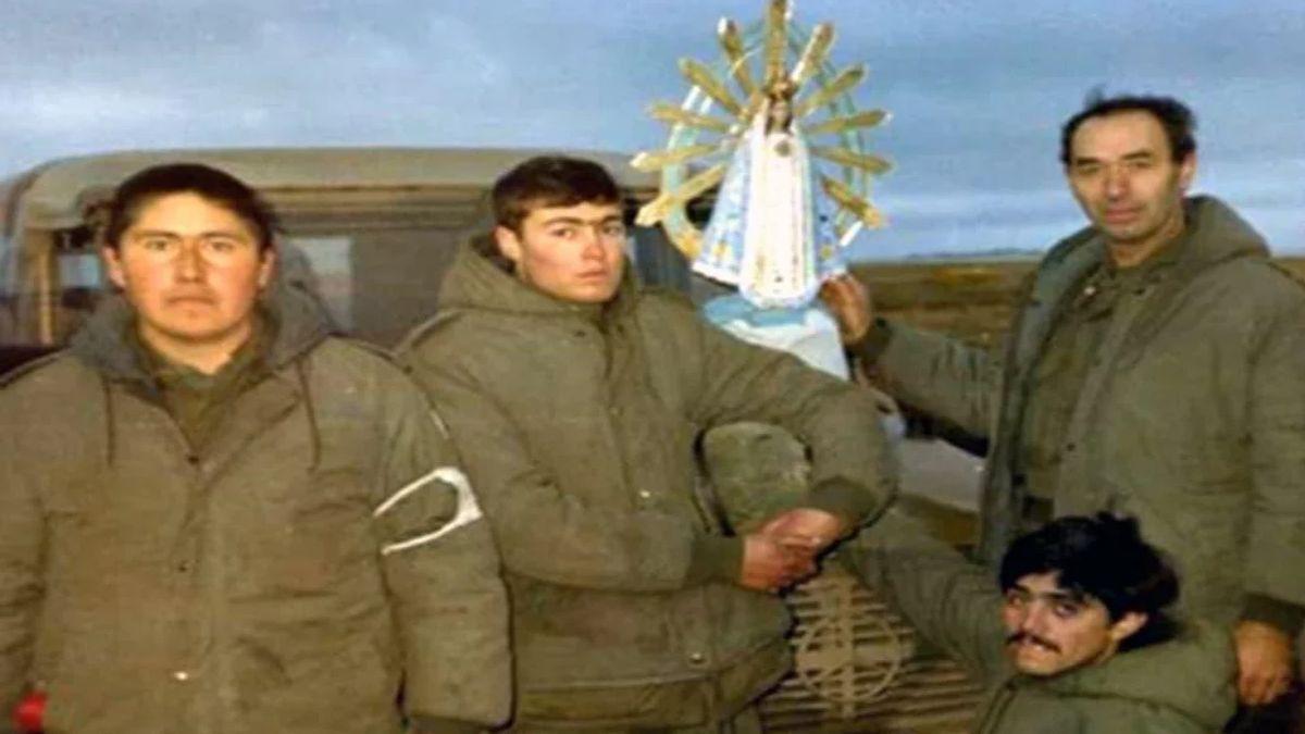 Se suspendió la llegada país de la Virgen de Luján que estuvo en Malvinas con los soldados argentinos