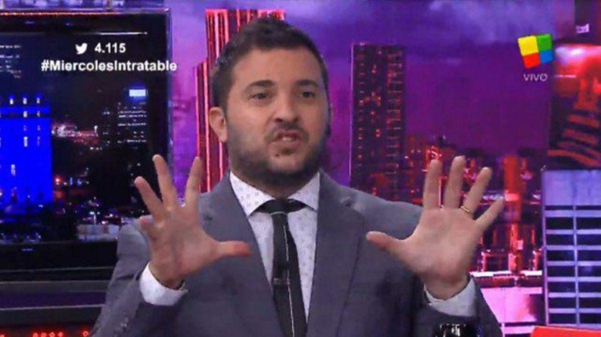 La locutora de Intratables cruzó en vivo a Diego Brancatelli