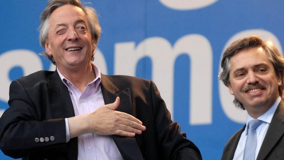 Alberto Fernández participó este jueves por la tarde en la casa Patria Grande de la presentación del libro Néstor