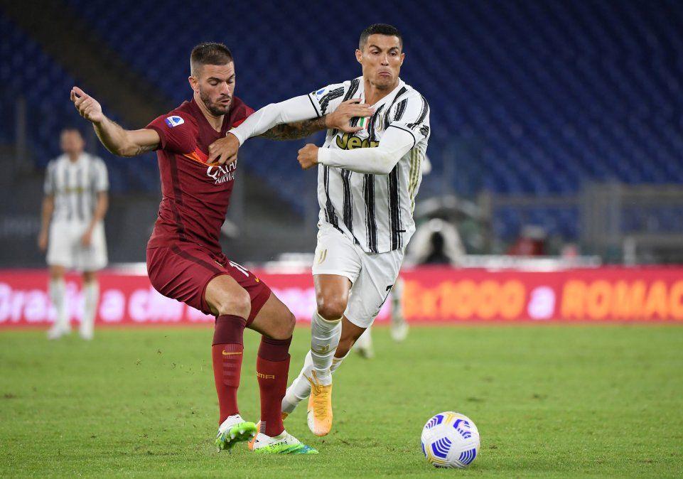 Cristiano Ronaldo marcó por duplicado y le arrebató el triunfo a la Roma en el Stadio Olímpico de la capital italiana.