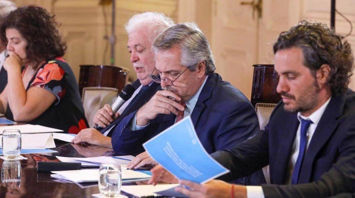 Alberto Fernández y los ministros del Gobierno Nacional.