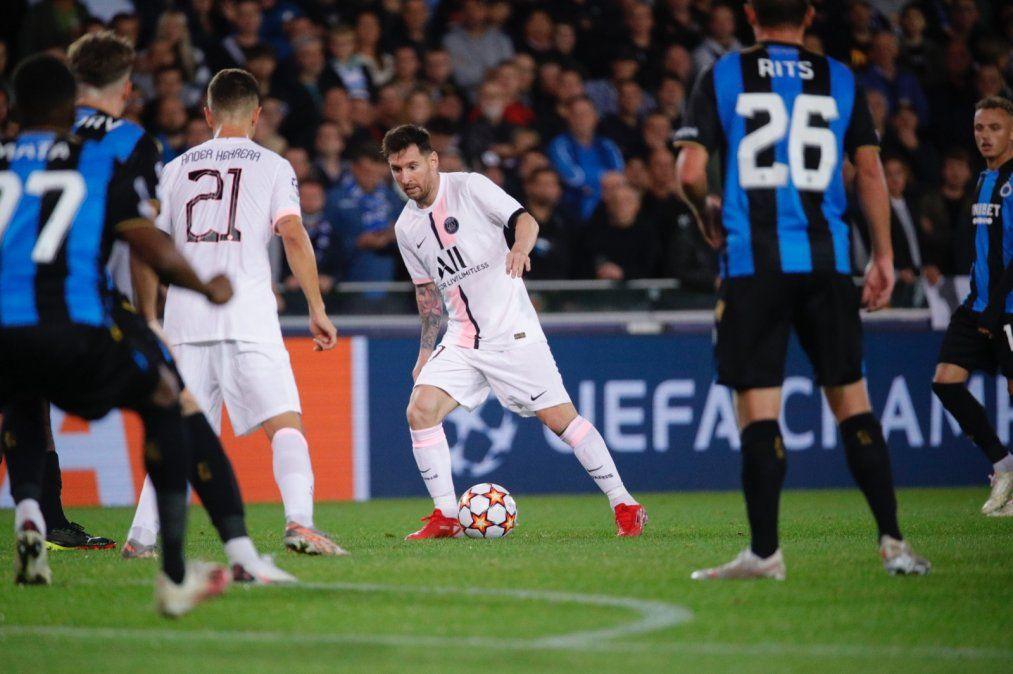 El debut de Lionel Messi con PSG en Champions fue empate ante el Brujas